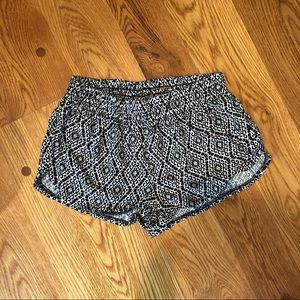 Urban Outfitters Black & White Tribal Shorts
